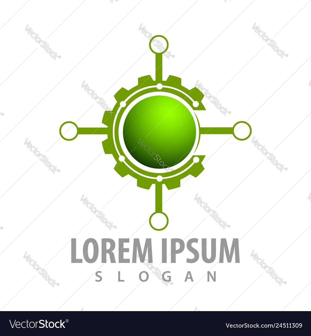 Circle gear target concept design symbol graphic