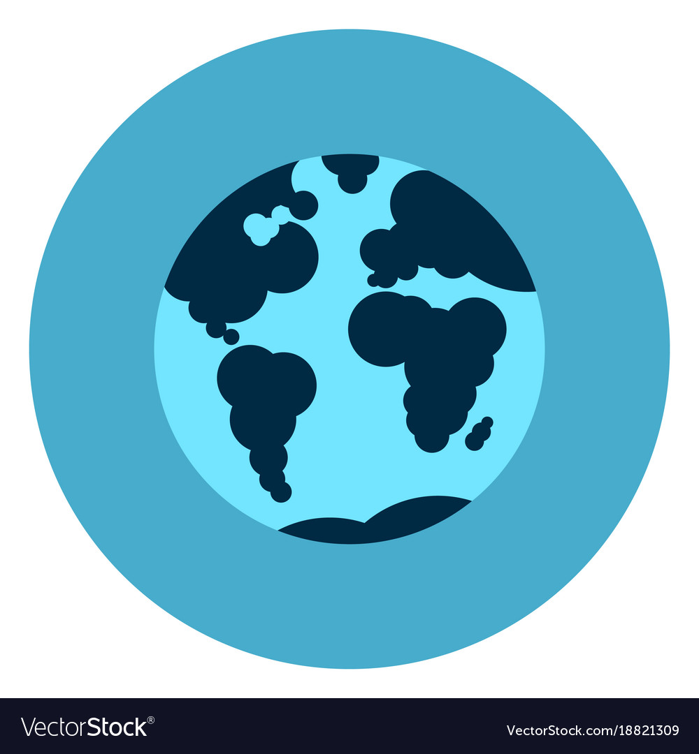 Round Globe Map.Earth Globe With Map Icon Web Button On Round Blue