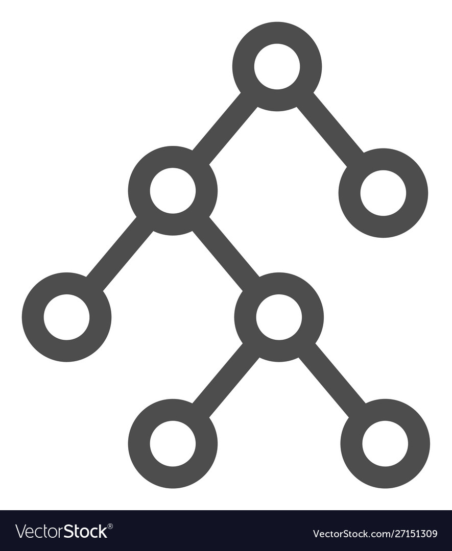 Flat binary tree icon
