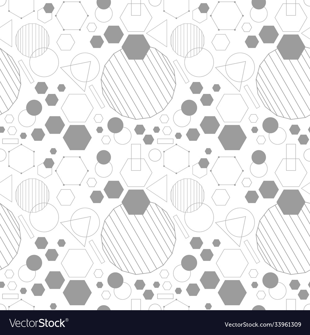 Line gray dense geometrical seamless pattern vector