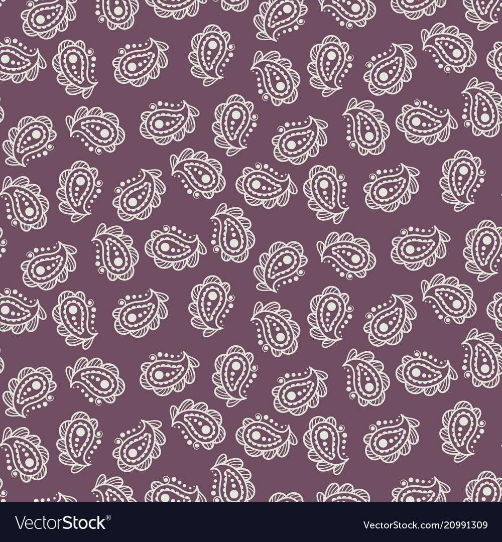 Paisley burgundy simple indian pattern