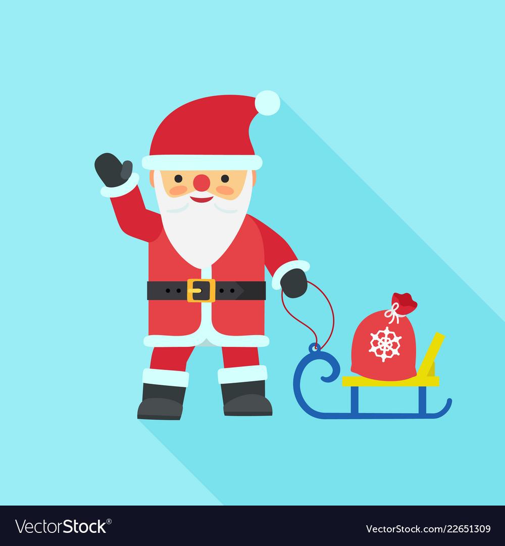 Santa claus icon flat style
