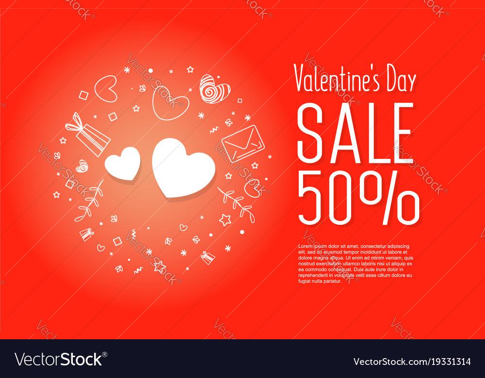 Big sale of valentines day