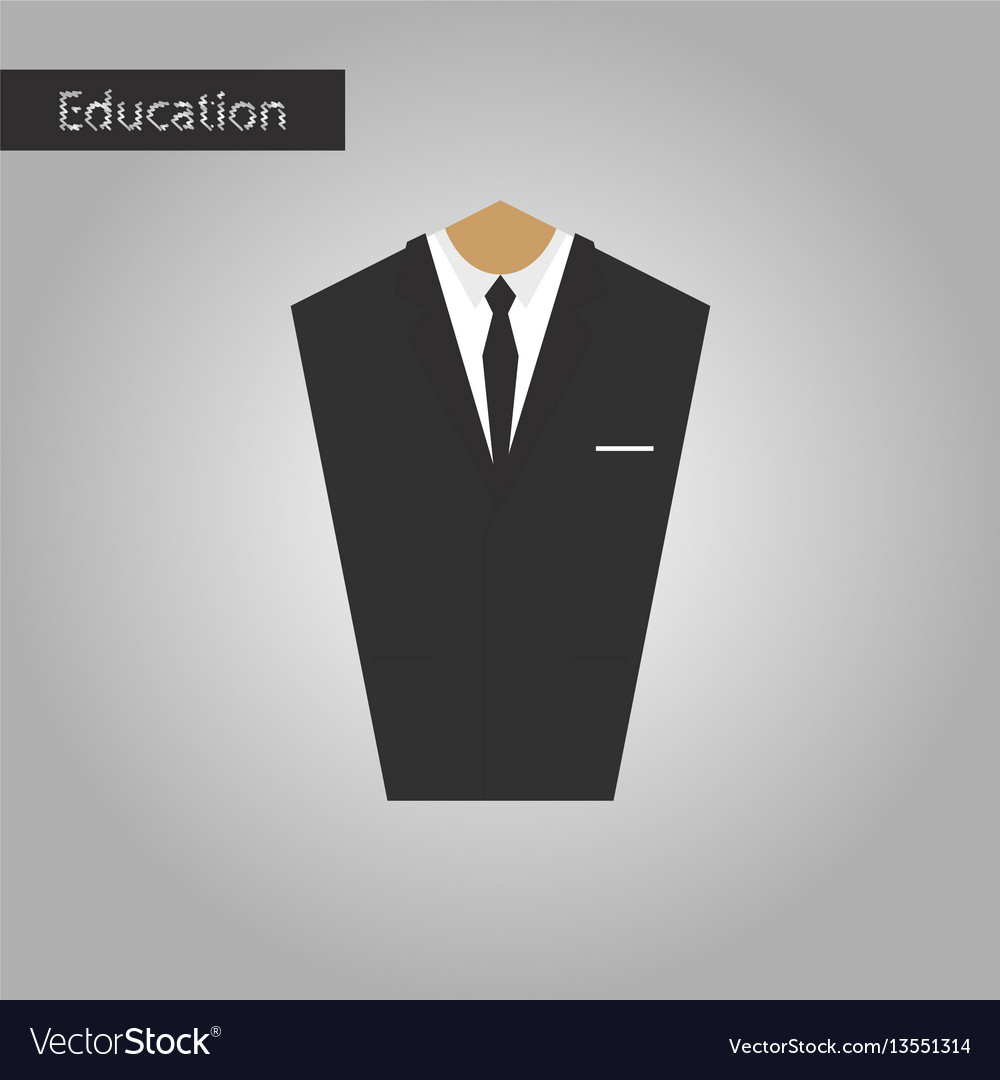 Black and white style icon mans jacket vector image