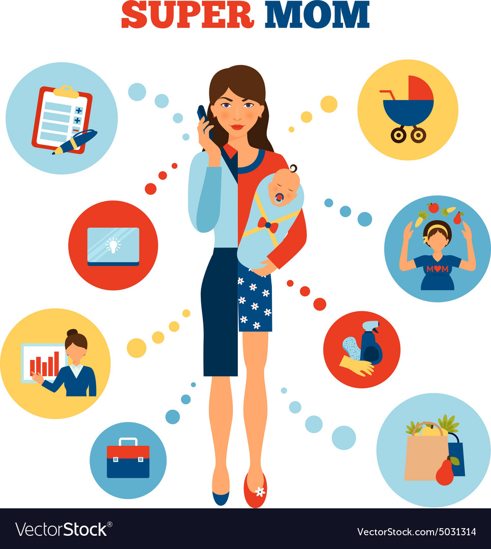 Businesswoman Mother Concept