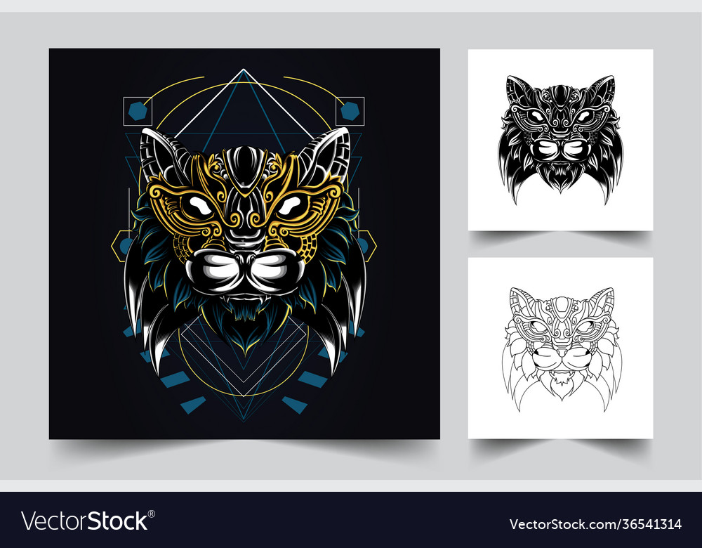 Cat ornamental artwork