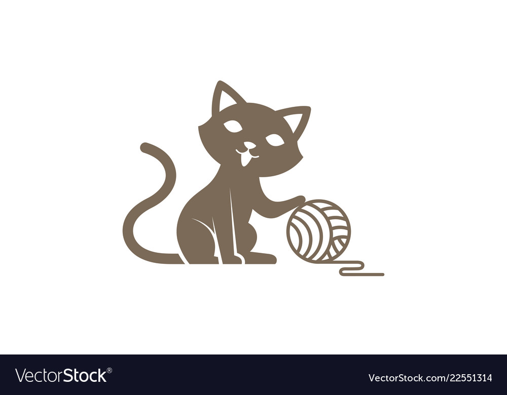 Creative cute cat logo