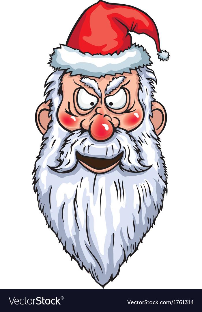 Evil Santa Head vector image