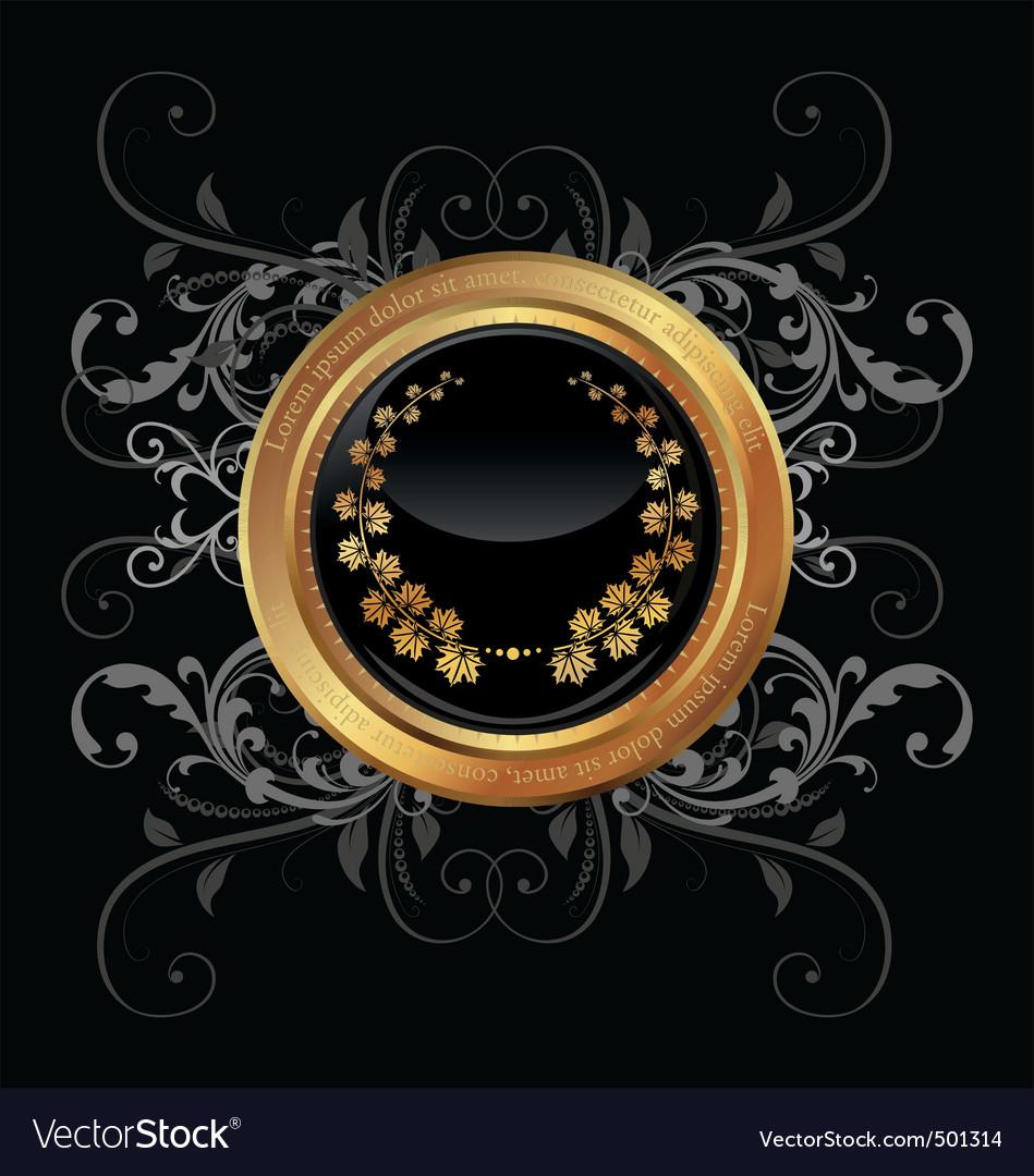 Golden medallion vector image