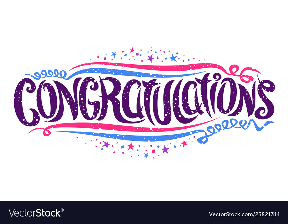 Lettering for congratulations wishes