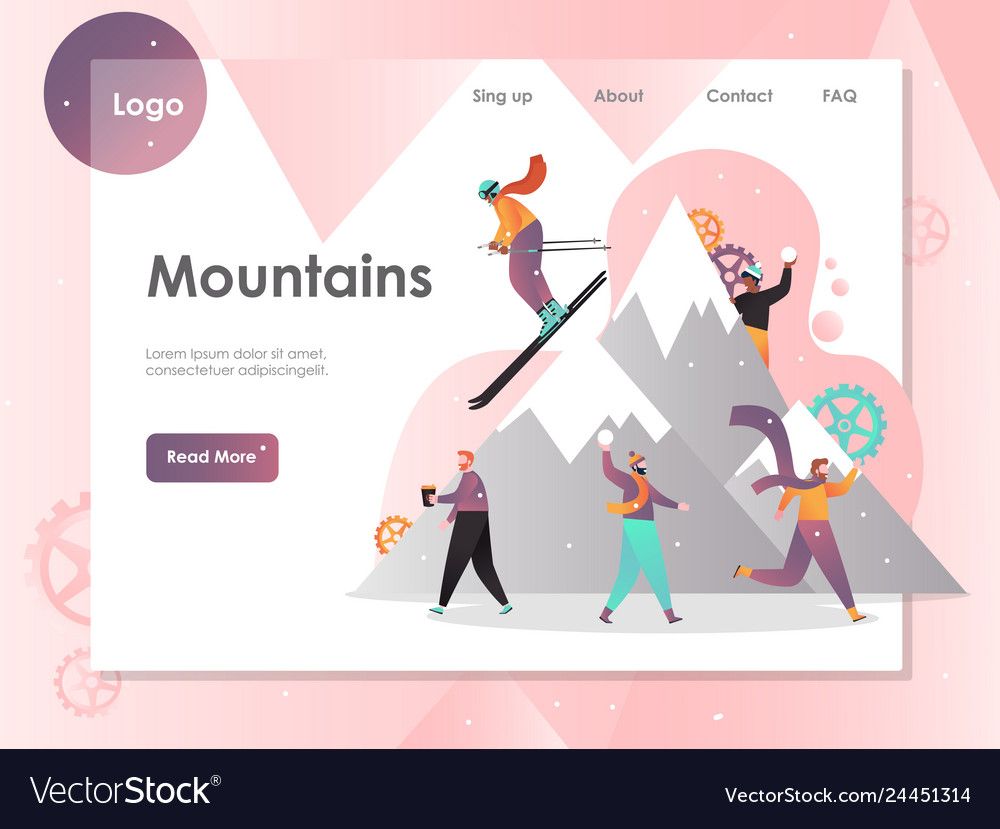 Mountains website landing page design