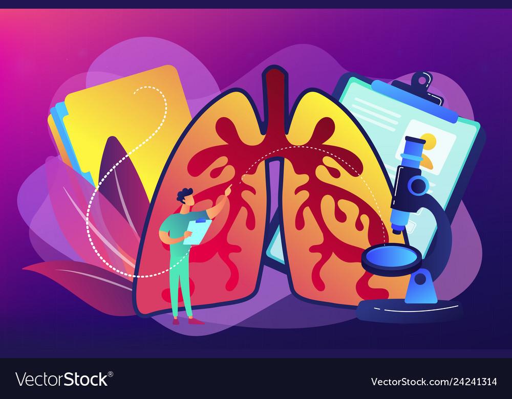 Obstructive pulmonary disease concept