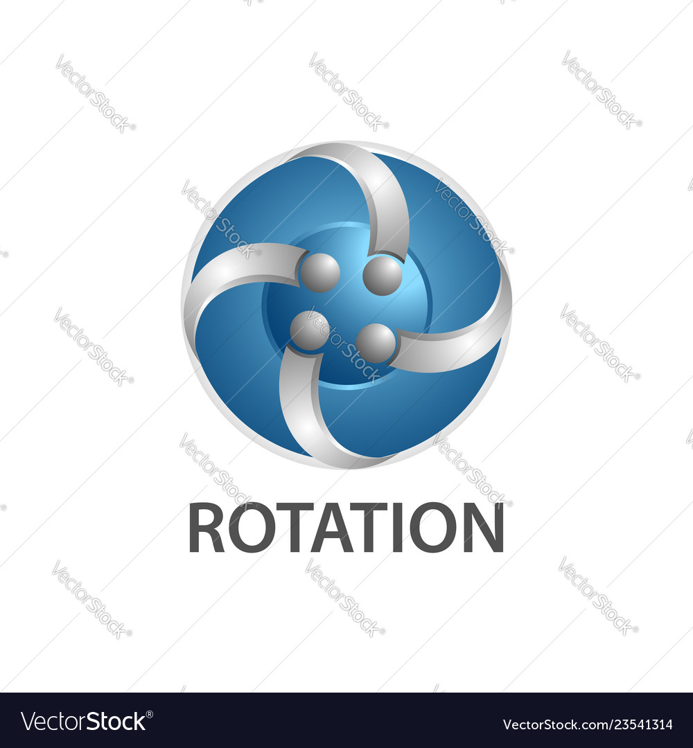 Rotation comet logo concept design symbol graphic
