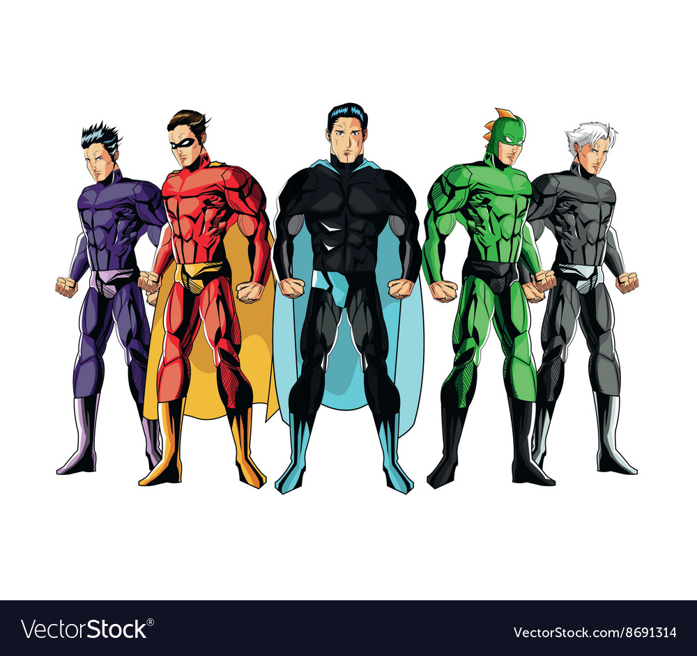 Superhero Design Superman Icon Costume Royalty Free Vector