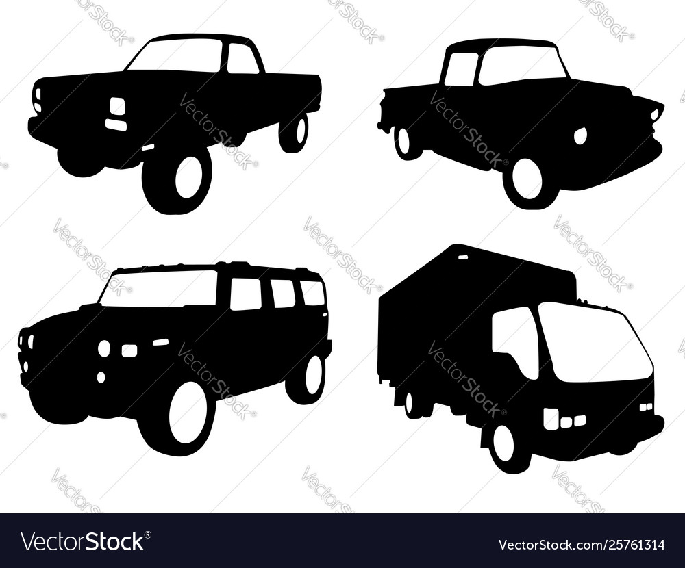 Truck silhouettes