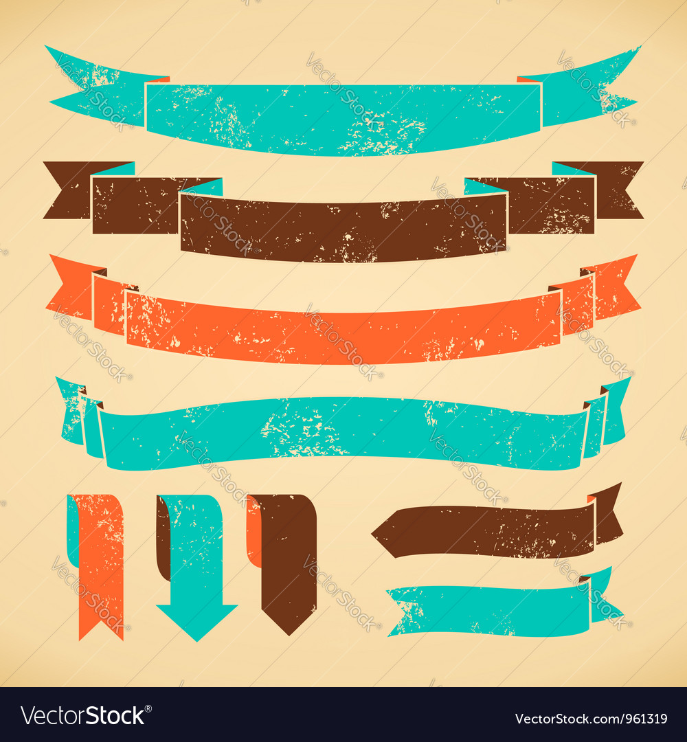 Bookmarks and banners collection vector image