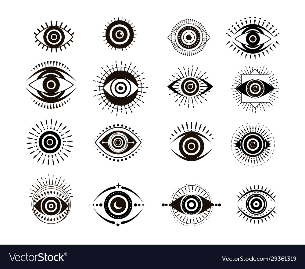 Evil eyes collection contemporary modern trendy