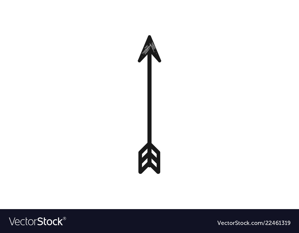 Hand drawn arrows hunting logo element
