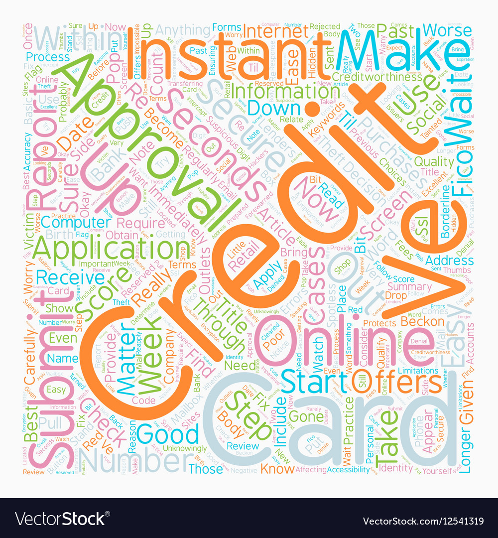 Instant Approval Credit Cards Online Approval