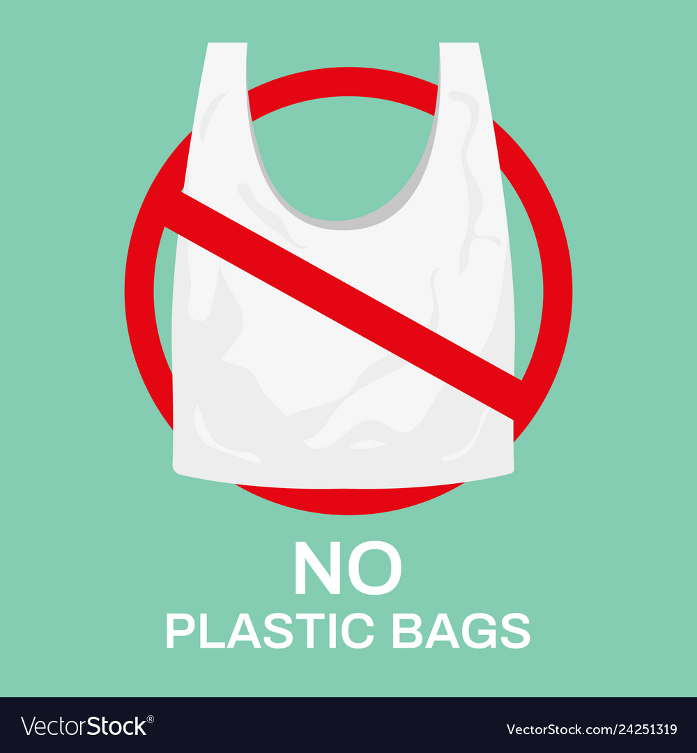 No plastic bags eco shopping bag market recycle