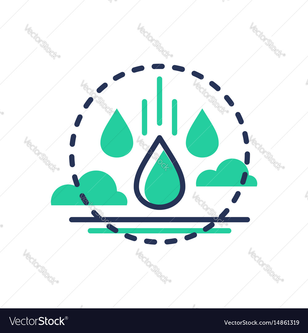 Raindrop - modern single line icon