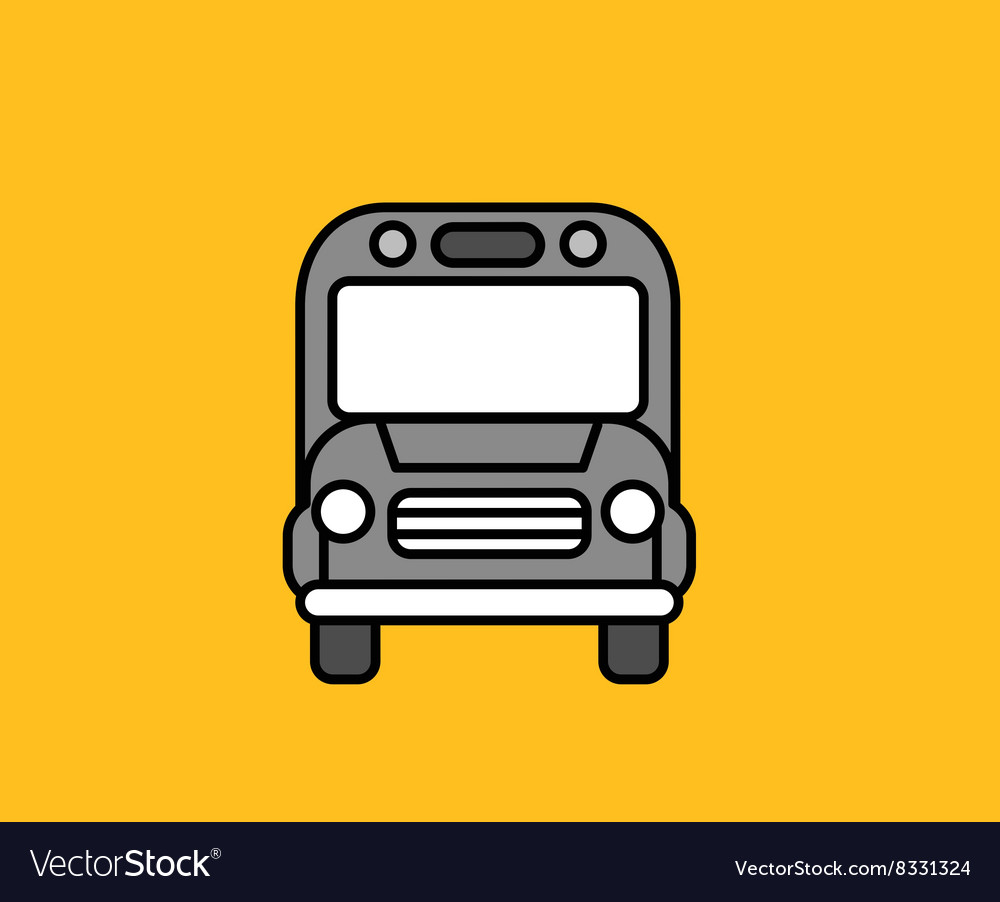 Bus Front Icon Design Flat Isolated vector image