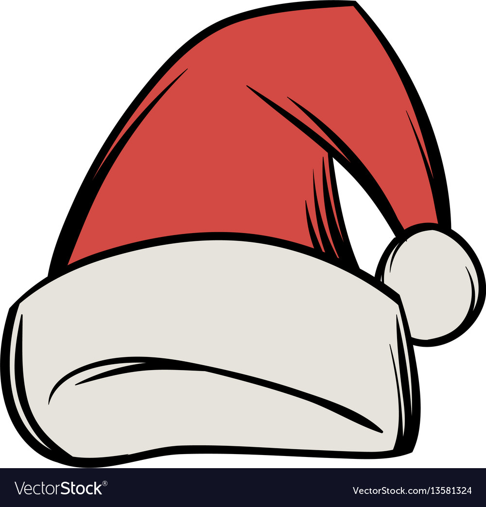Christmas Hat Cartoon.Christmas Hat Icon Cartoon