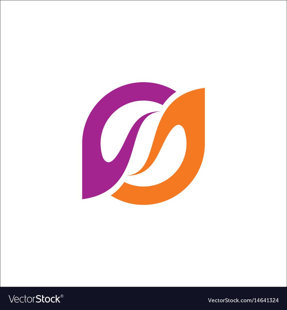 Circle beauty abstract purple logo vector image