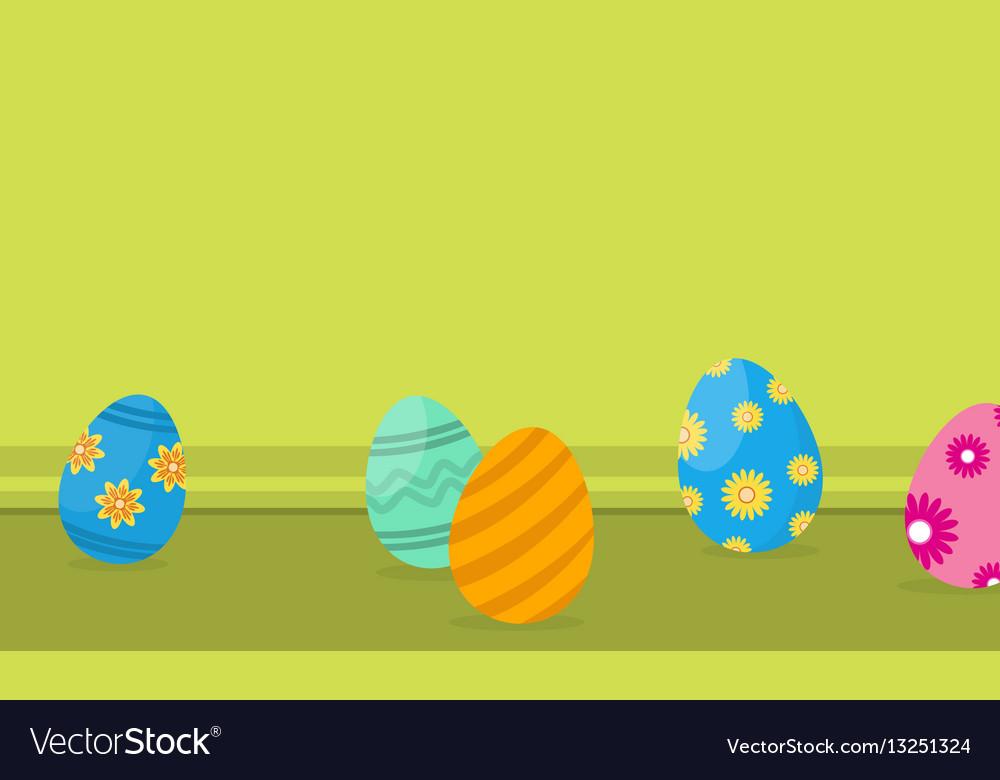Easter egg on landscape backgrounds