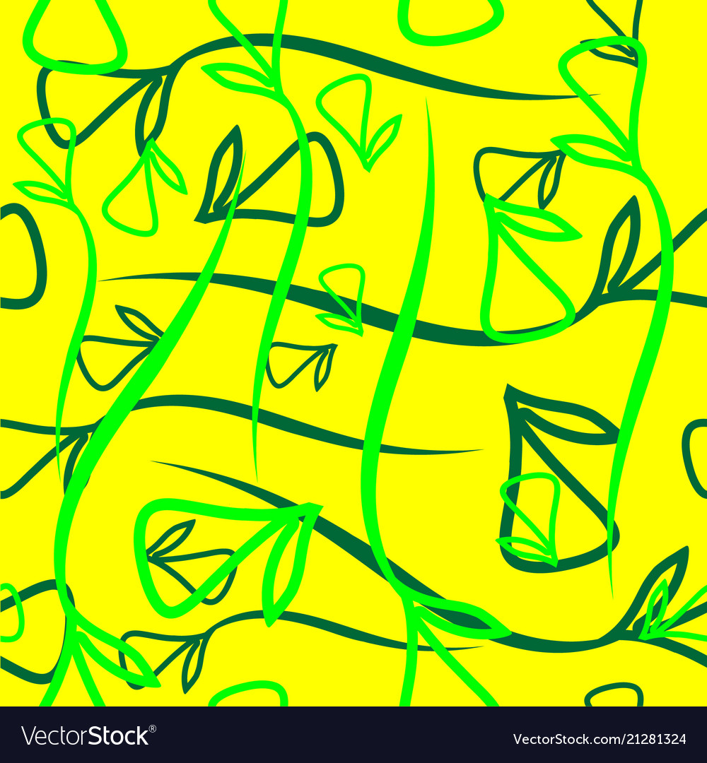 Geometric pattern from vegetable green and green