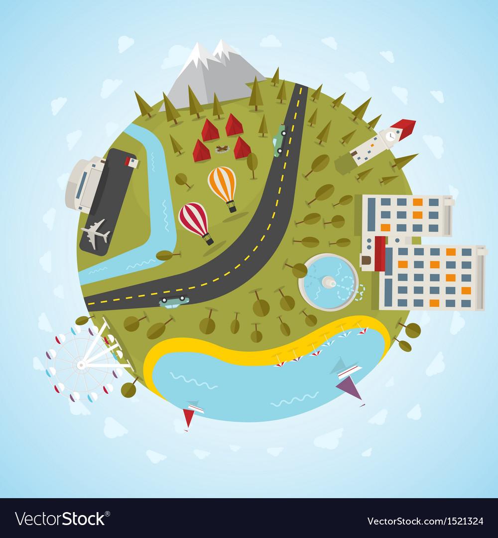 Resort planet vector image