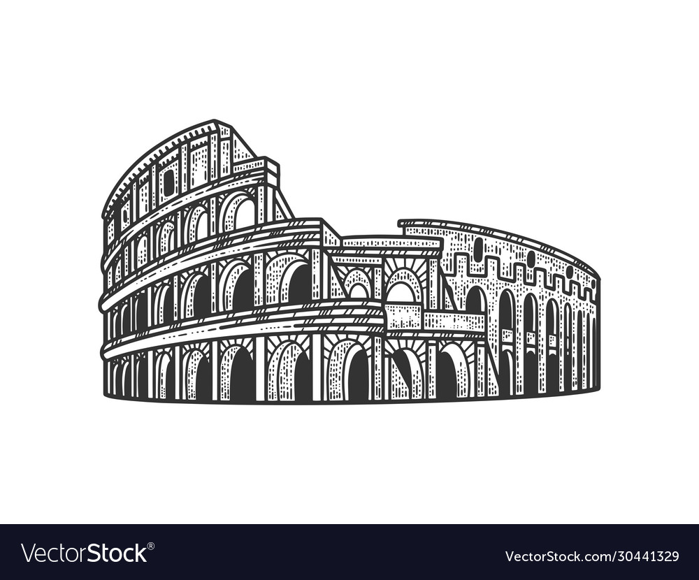 Coliseum sketch vector