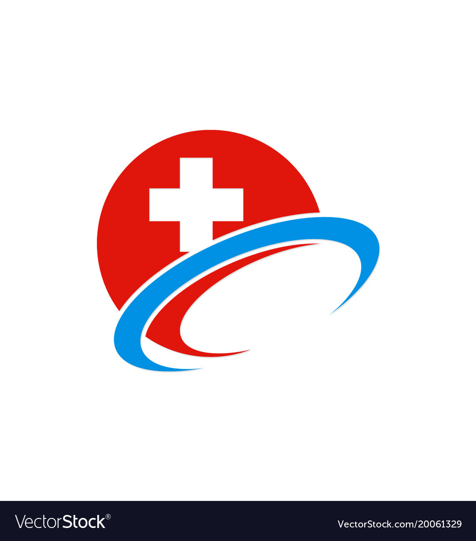 Hospital Sign Cross Logo Royalty Free Vector Image