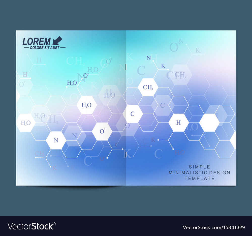 Modern template for brochure leaflet flyer vector image