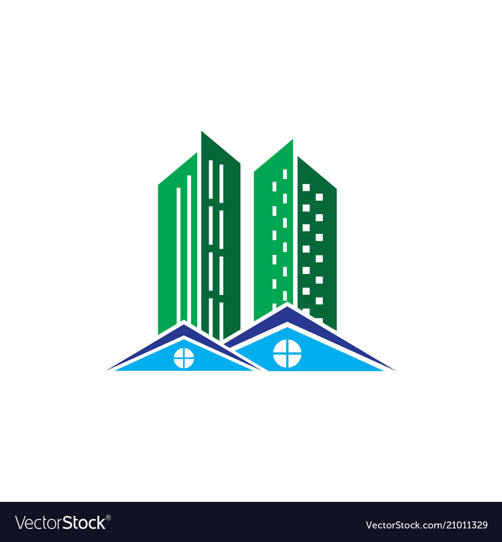 Skycrapter home building business logo vector image