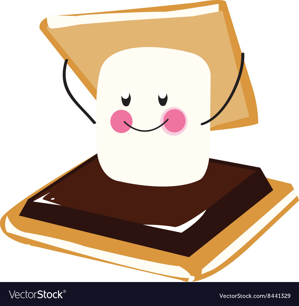 smores vector images 15 rh vectorstock com smores clipart black and white smores clipart black and white