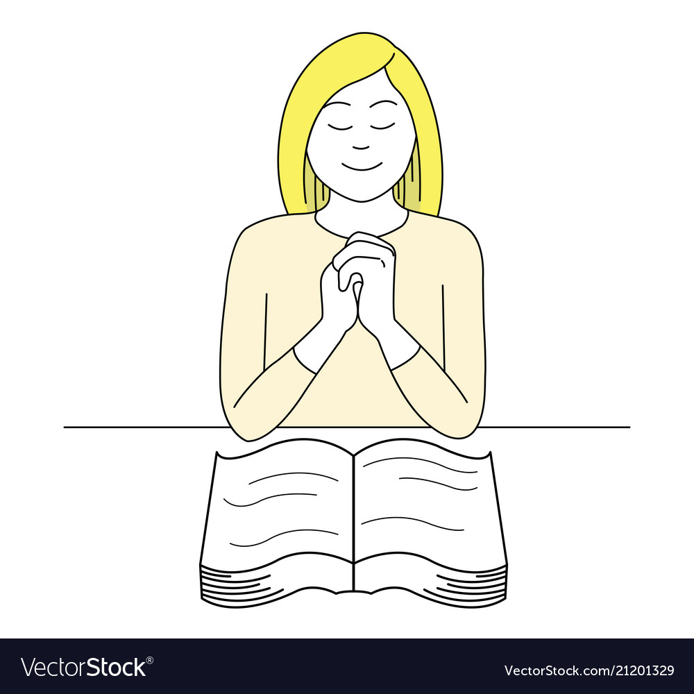 Woman pray for god