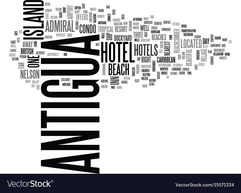 Antigua history text word cloud concept