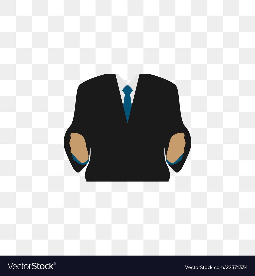 Business man body graphic design