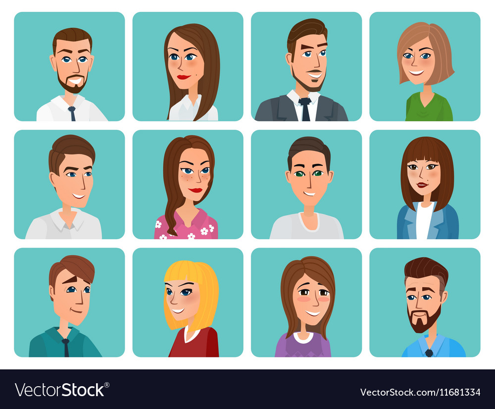 Men and women business and casual clothes icons