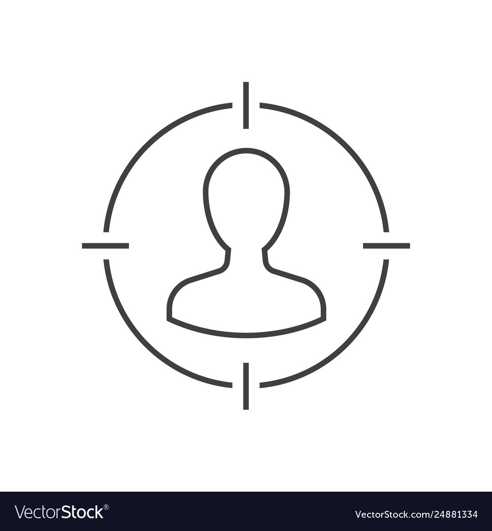 Target audience outline icon
