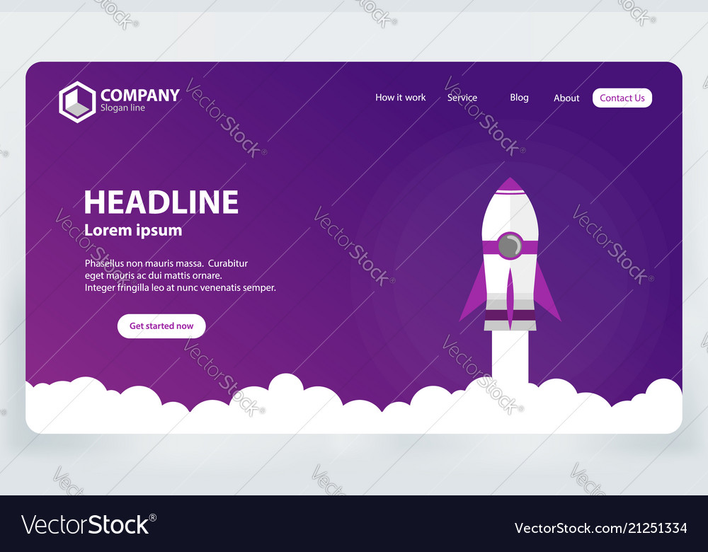 Website ranking landing page template design