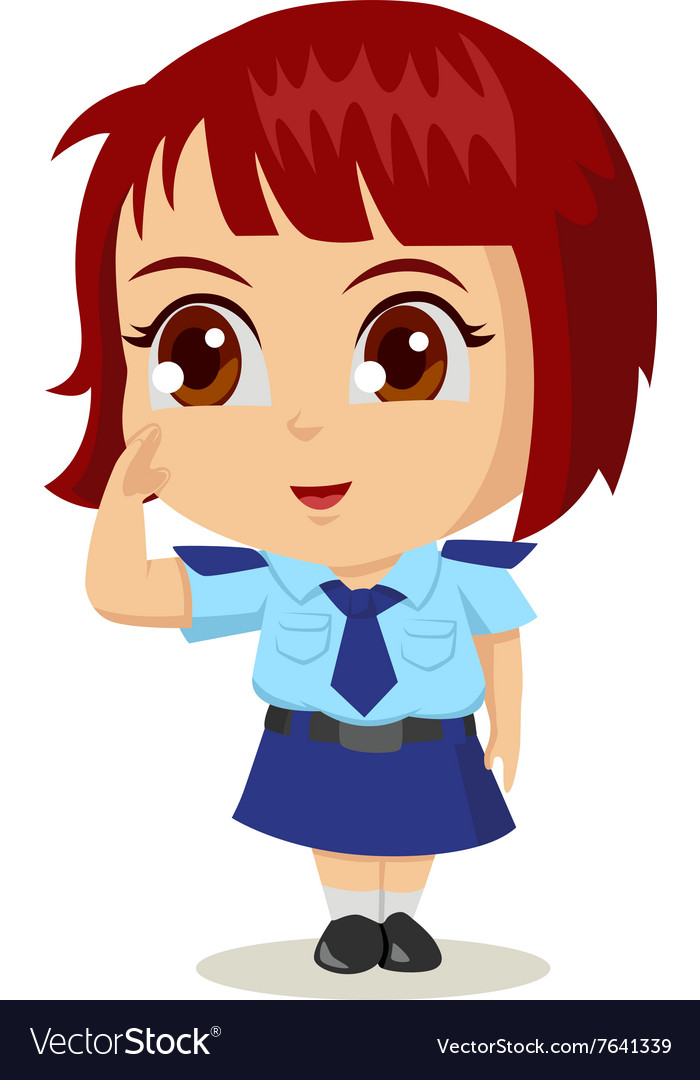 Cartoon Police Woman vector image