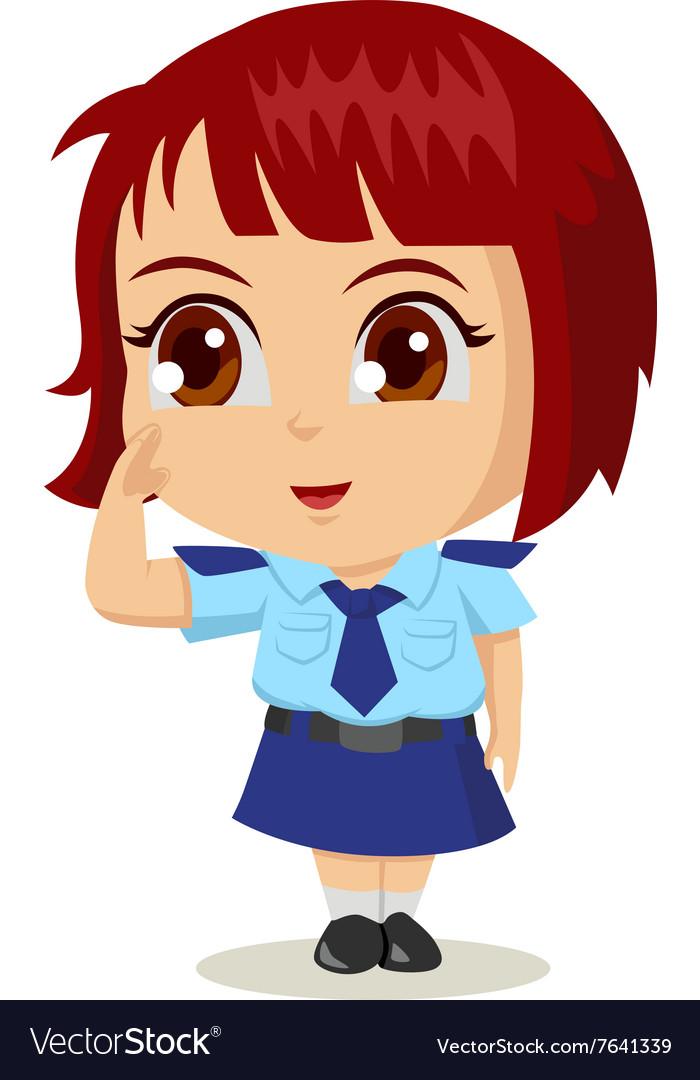 Cartoon Police Woman