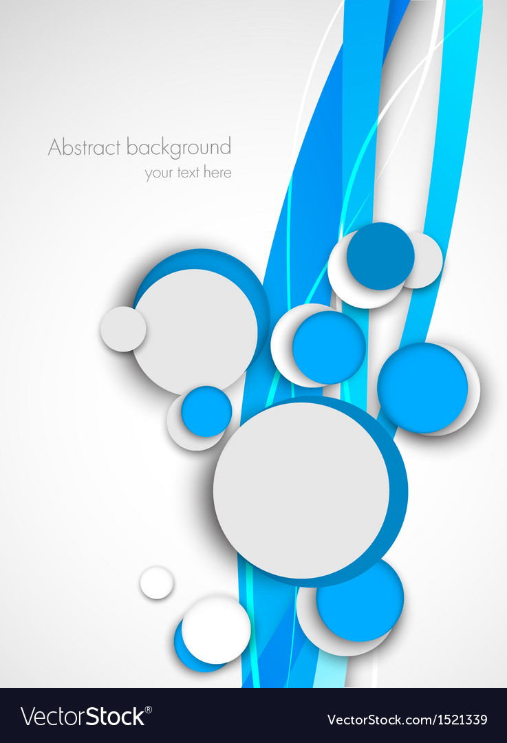 Circles on blue waves