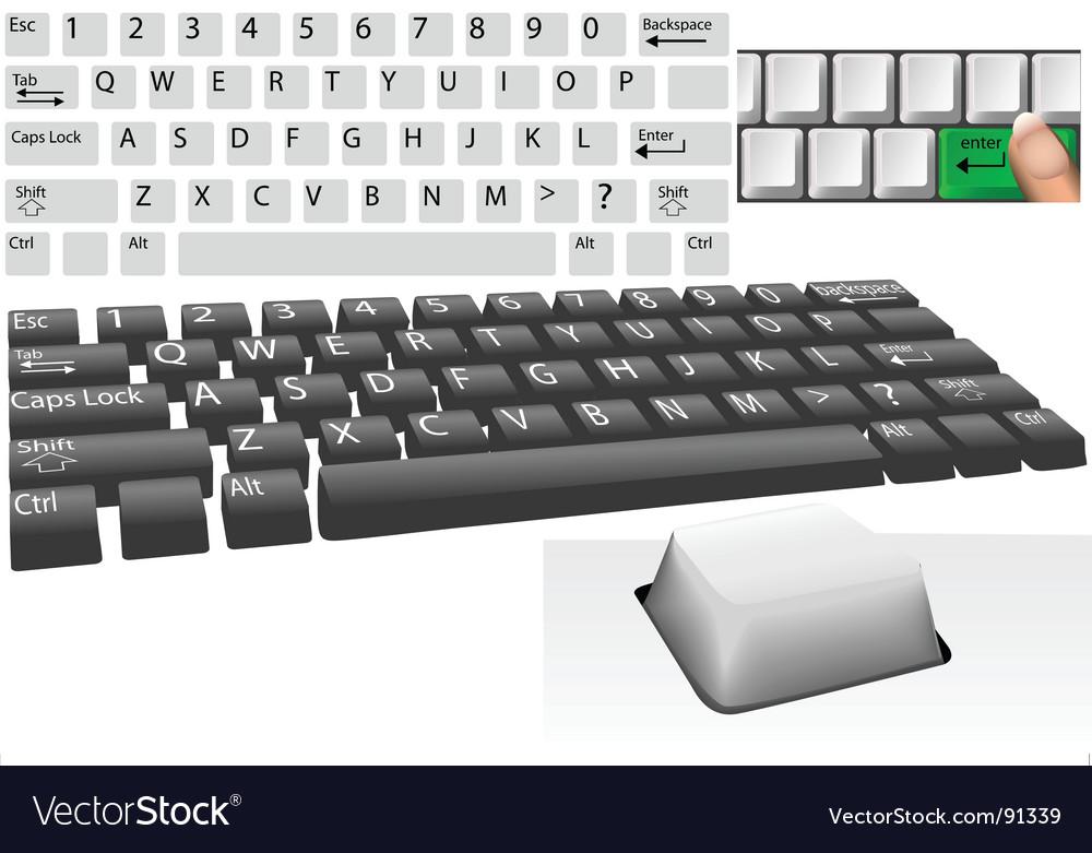 Computer keys and keyboard