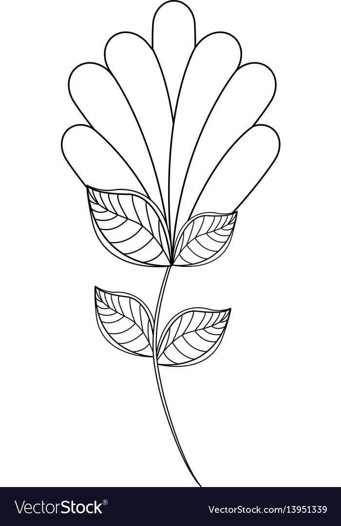 Flower decoration natural line