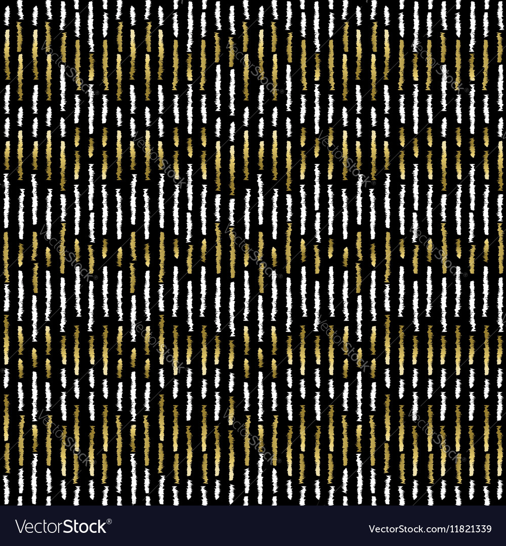 Grunge gold stripe seamless pattern