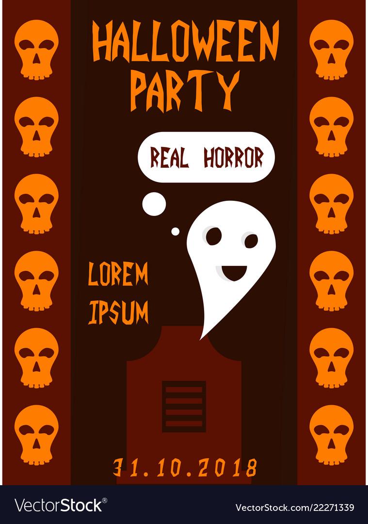 halloween vertical background flyer or invitation vector image