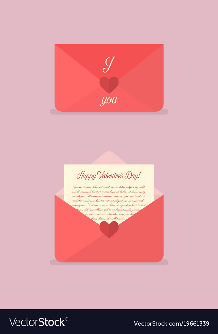Happy valentines day love letter